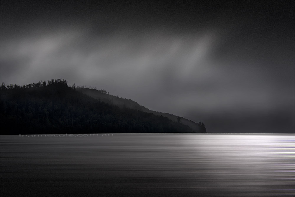 lake-stclair-tasmania-overcast-monochrome