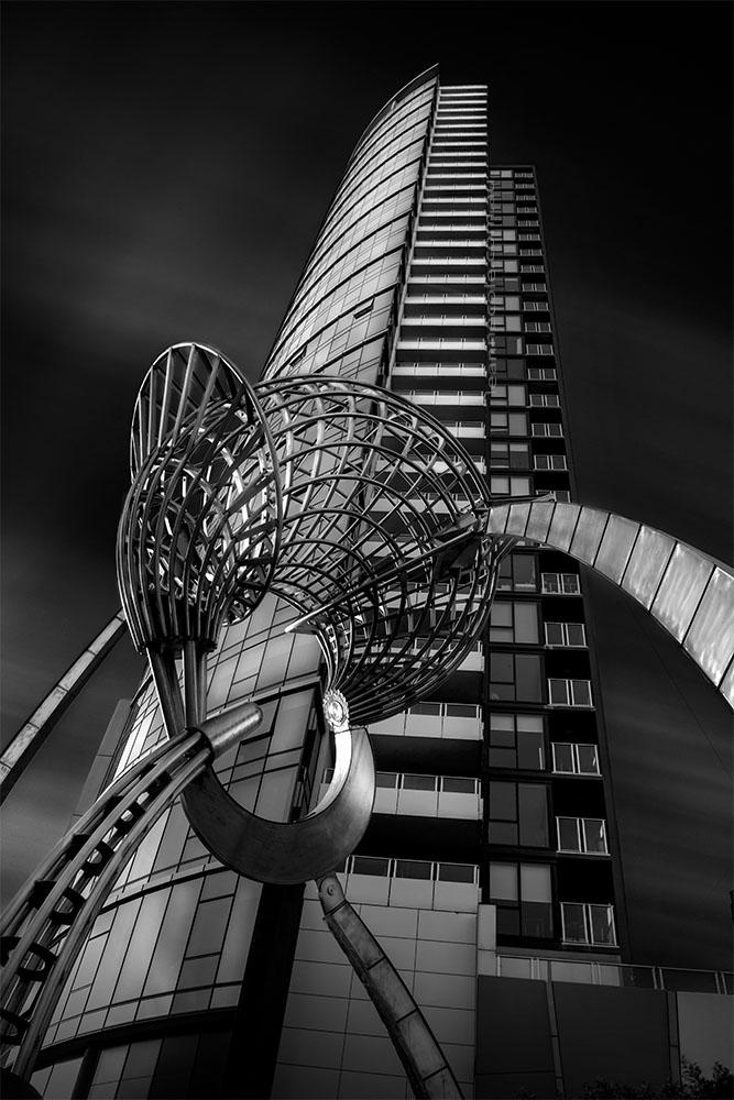 longexposure-architecture-docklands-melbourne-monochrome